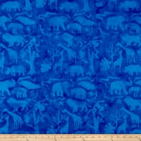 Island Batik Petting Zoo Jungle Animals Bluebird