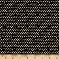 Stof Fabrics Denmark Bonita Graphic Flowers With Dots Black