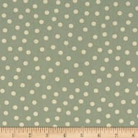 Stof Fabrics Denmark Hannah Basic Medium Dots Green