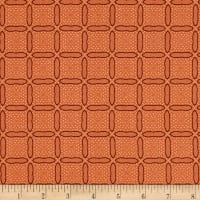 Stof Fabrics Denmark Bonita Square Graphics With Dots Peach