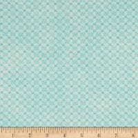 Stof Fabrics Denmark Gradiente Basic Flowers In Grid Turquoise Blue