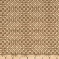 Stof Fabrics Denmark Hannah Basic Diamond Shapes With Dots Sand