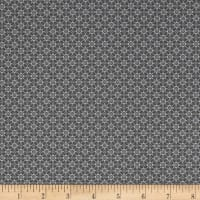 Stof Fabrics Denmark Hannah Basic Diamond Shapes With Dots Grey