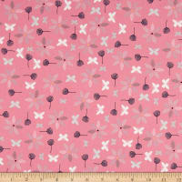 Stof Fabrics Denmark Hollie's Flowers Butterlies & Flowers Rose