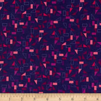 Stof Fabrics Denmark Rainbow Colours Squares & Triangles Purple