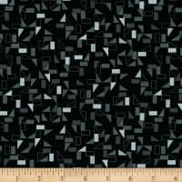 Stof Fabrics Denmark Rainbow Colours Squares & Triangles Black