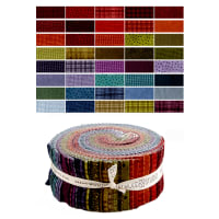"Maywood Studio Woolies Flannel Colors 2.5"" Strips 40 Pcs. Multi"