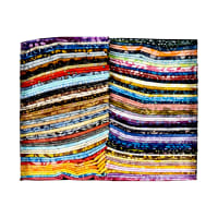 Anthology Fabrics Batik Fat Quarter Box 72 Pcs Multi