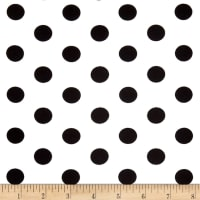 Double Brushed Poly Jersey Knit Medium Polka Dot Black/Ivory