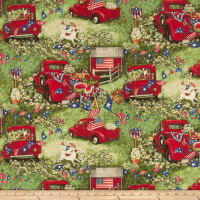 Susan Winget Patriotic Picnic Digital Woven Red
