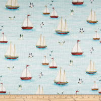 Susan Winget Serene Shores Sail Boats Basketweave Blue