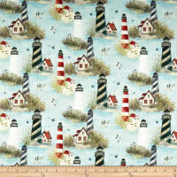 Susan Winget Serene Shores Lighthouses Basketweave Multi