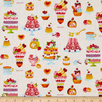 Cosmo Sweet Shop Sweet Treats Sheeting Natural