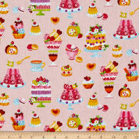 Cosmo Sweet Shop Sweet Treats Sheeting Light Pink