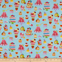 Cosmo Sweet Shop Sweet Treats Sheeting Light Blue