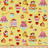 Cosmo Sweet Shop Sweet Treats Sheeting Light Yellow