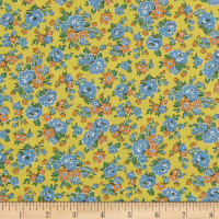 Lecien Retro 30's Child Smile 2018 Tossed Floral Yellow