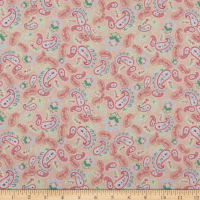 Lecien Woodland Rose Scattered Paisleys Blush