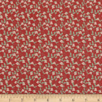 Lecien Woodland Rose Floral Vines Red