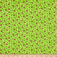 Epic Sunny Days Floral Allover Green