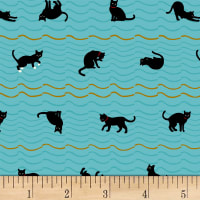 Quilt Gate Neko IV Metallic Cat Roof Stripe Blue