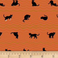 Quilt Gate Neko IV Metallic Cat Roof Stripe Orange