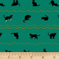 Quilt Gate Neko IV Metallic Cat Roof Stripe Green