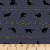 Quilt Gate Neko IV Metallic Cat Roof Stripe Dark Gray