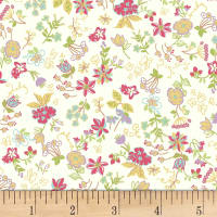 Quilt Gate Ruru Bouquet Florette Floral Toss Natural