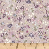 Quilt Gate Ruru Bouquet Florette Floral Toss Light Purple