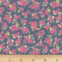 Quilt Gate Ruru Bouquet Florette Bouquet Toss Navy