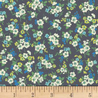 Quilt Gate Ruru Bouquet Florette Bouquet Toss Dark Gray