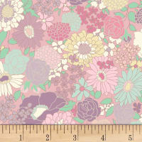 Quilt Gate Ruru Bouquet Florette Blooms Light Pink