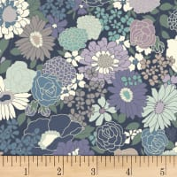 Quilt Gate Ruru Bouquet Florette Blooms Dark Gray