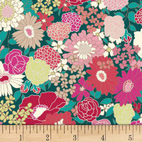 Quilt Gate Ruru Bouquet Florette Blooms Green