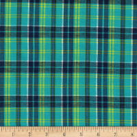 Cambridge Rayon Yarn-Dyed Plaids Teal/Navy