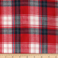 Madras Yarn-Dyed Plaids Red/Blue