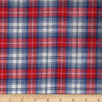 Madras Yarn-Dyed Plaids Red/White/Blue