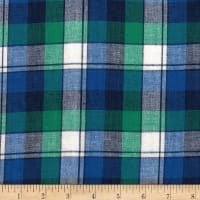 Madras Yarn-Dyed Plaids Teal/Navy/White