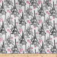 Fabric Editions Paris Travel Eifel Tower