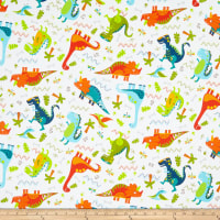 Fabric Editions Jurassic Journey Tossed Dino
