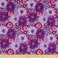 Fabric Editions Purple Mist Large Floral