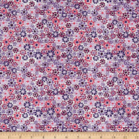 Fabric Editions Purple Mist Small Floral