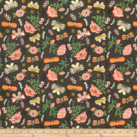Fabric Editions Glorious Garden Flower And Butterflies