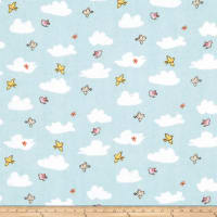 Fabric Editions Playful Cuties 3 Clouds