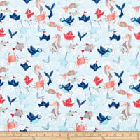 Fabric Editions Playful Cuties 3 Splish Splash Ocean