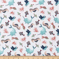 Fabric Editions Playful Cuties 3 Sea Creatures