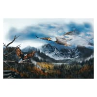 "Hoffman Call Of The Wild 30"" Soaring Eagle Panel Digital Sky"