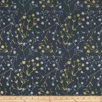 Hoffman Sparkle & Fade Foliage Metallic Charcoal