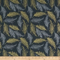 Hoffman Sparkle & Fade Feathers Metallic Charcoal
